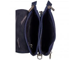Барсетка кожа мягкая DESISAN 1012-315 синий флотар - Royalbag