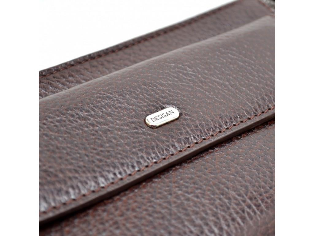 Барсетка кожа мягкая DESISAN 251-019 коричневый флотар - Royalbag