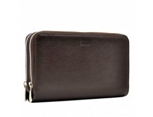 Барсетка мягкая BOND 881-286 коричневый флотар - Royalbag