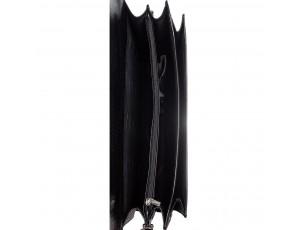 Портфель кожа Desisan 216-143 черный лазер - Royalbag