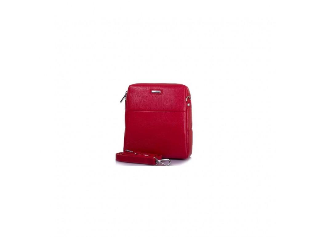 Сумка маленькая кожа KARYA 0693-46 красный флотар - Royalbag