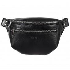 Поясная сумка кожа KARYA 0203-45 черный флотар - Royalbag