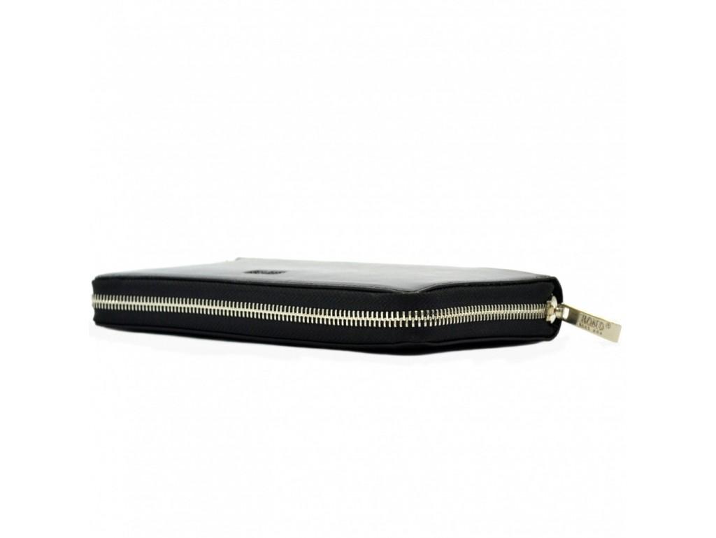 Барсетка кистевая BOND 866-1 черный гладкий - Royalbag