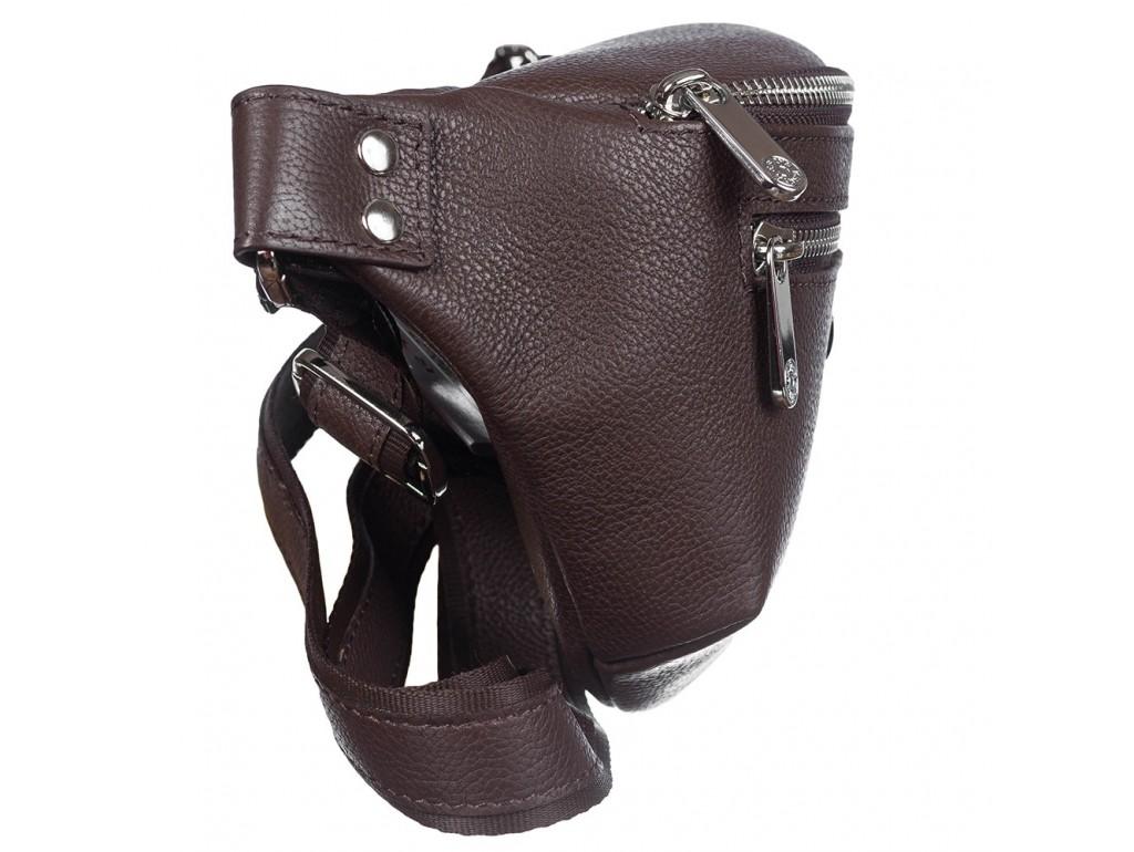 Поясная сумка кожа KARYA 0203-39 коричневый флотар - Royalbag