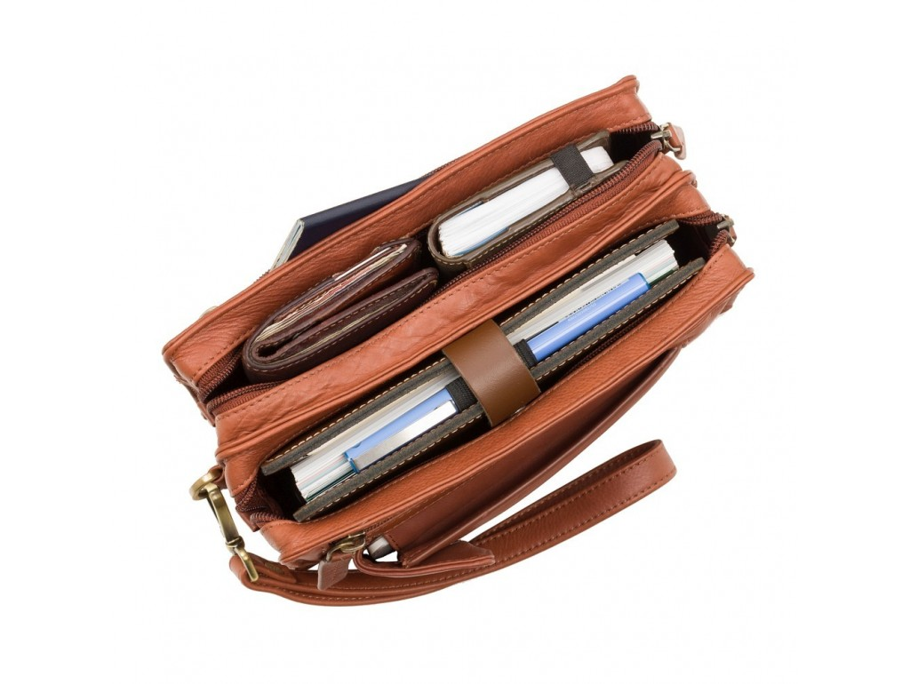 Барсетка мужская Visconti 18233 Wrist Bag (Brown) - Royalbag