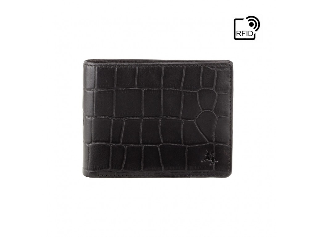 Кошелек мужской Visconti CR92 Gator c RFID (Black) - Royalbag