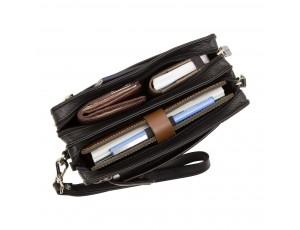 Барсетка мужская Visconti 18233 Wrist Bag (Black) - Royalbag