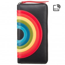 Кошелек женский Visconti HR82 Von c RFID (Black Rainbow) - Royalbag