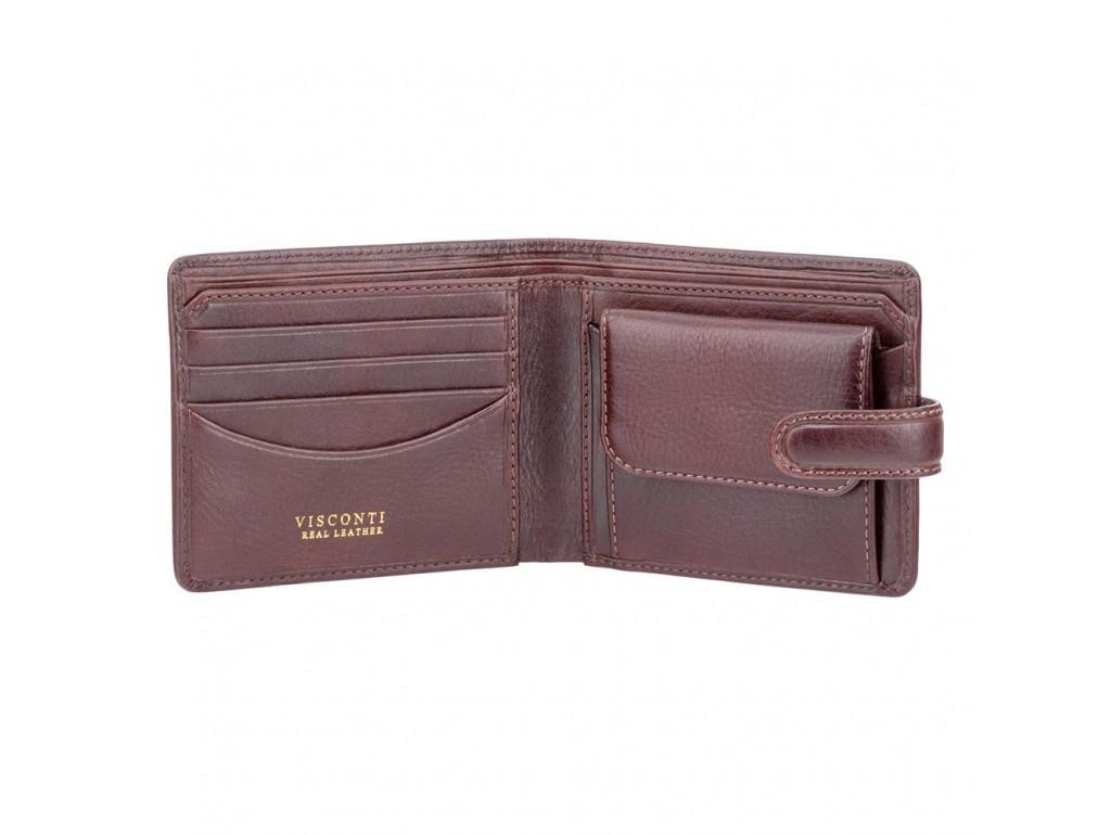 Кошелек мужской Visconti TSC47 Riccardo c RFID (Brown) - Royalbag