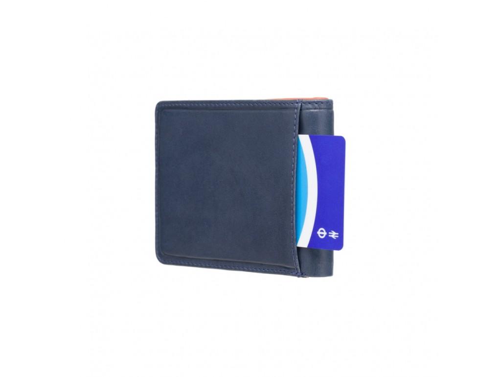 Кошелек мужской Visconti PLR72 Segesta c RFID (Steel Blue-Orange) - Royalbag
