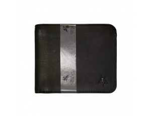 Кошелек мужской Visconti VSL35 Trim c RFID (Black-Cobalt) - Royalbag