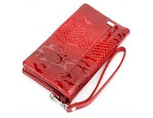 Клатч женский KARYA 17191 кожаный Красный - Royalbag