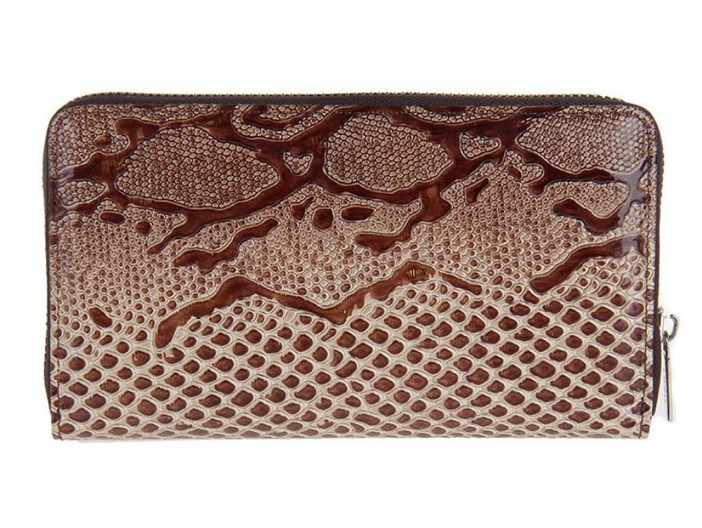 Клатч женский KARYA 17186 кожаный Бежевый - Royalbag