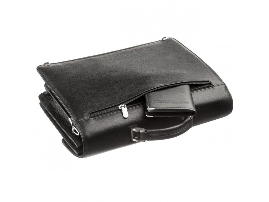 Портфель мужской KARYA 17268 кожаный Черный флотар - Royalbag