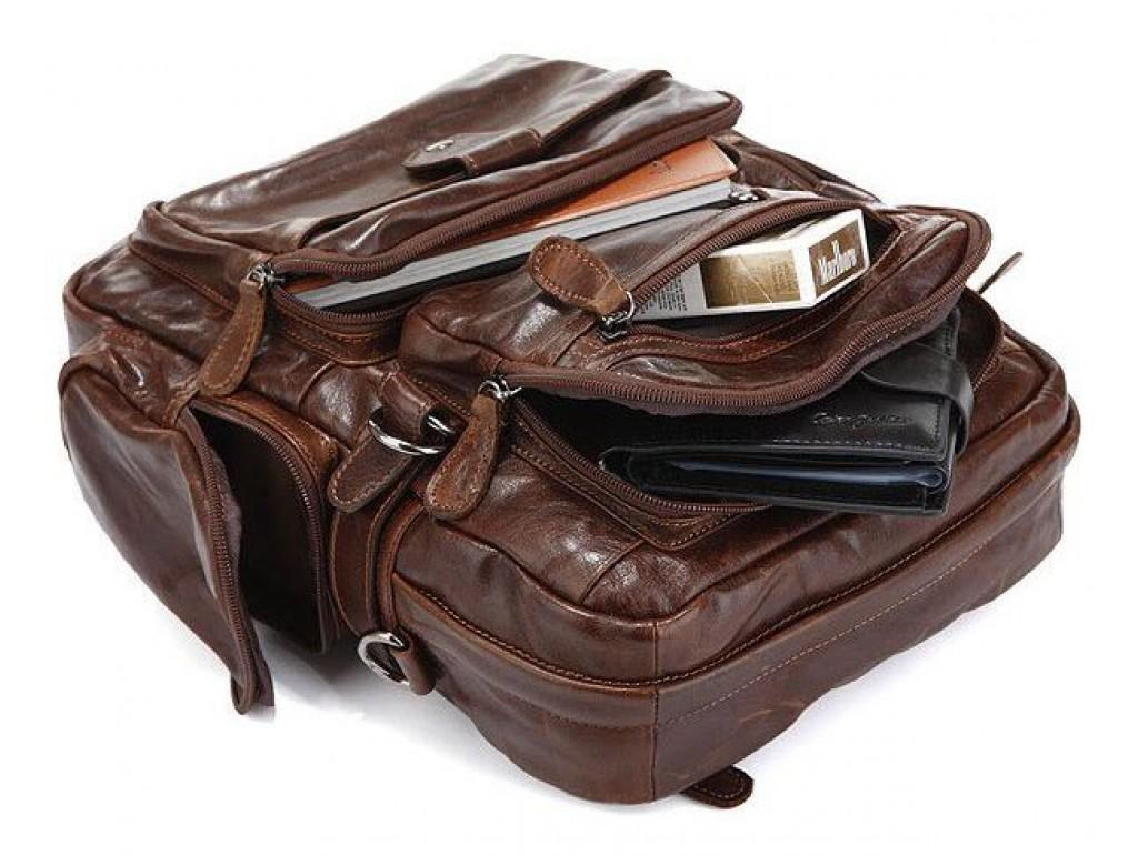 Рюкзак Vintage 14232 кожаный Коричневый, Коричневый - Royalbag