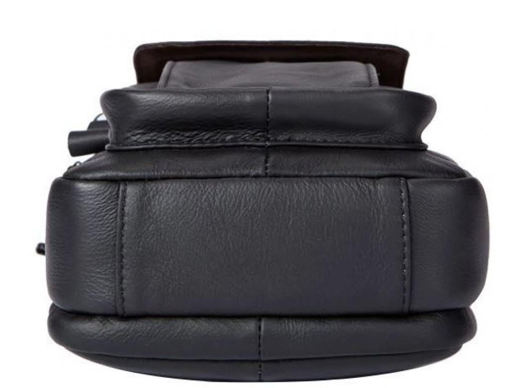 Сумка мужская кожаная Vintage 14816 Черная, Черный - Royalbag