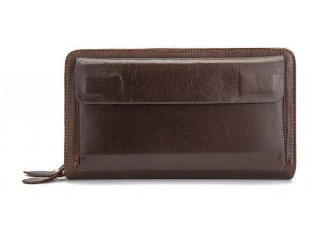 Мужская барсетка с ремешком на руку Vintage 14915 Коричневая, Коричневый - Royalbag