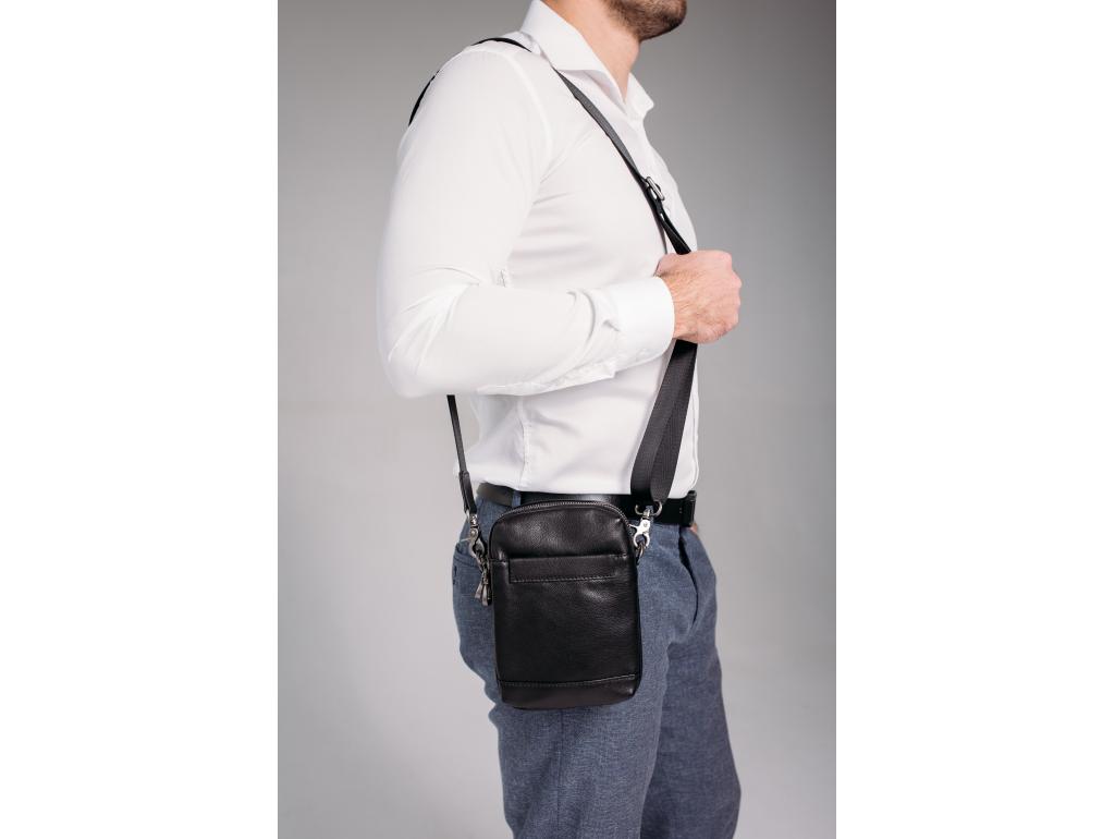 Кожаная маленькая сумка через плечо Tiding Bag 1631A - Royalbag