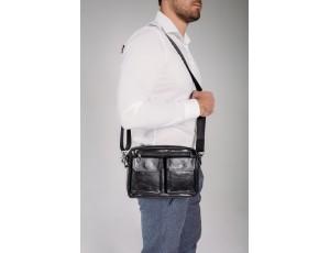 Горизонтальная сумка через плечо кожаная Tiding Bag 720A - Royalbag