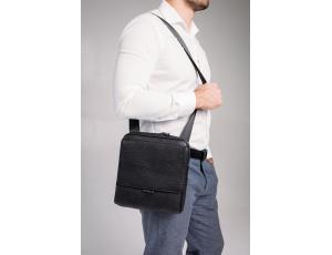 Черная кожаная сумка мужская Tavinchi S-002A - Royalbag