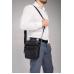 Шкіряна чоловіча сумка-месенджер чорна Allan Marco RR-9055A - Royalbag Фото 3