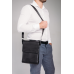Кожаная черная сумка мужская через плечо Tiding Bag A25F-9906A - Royalbag Фото 3