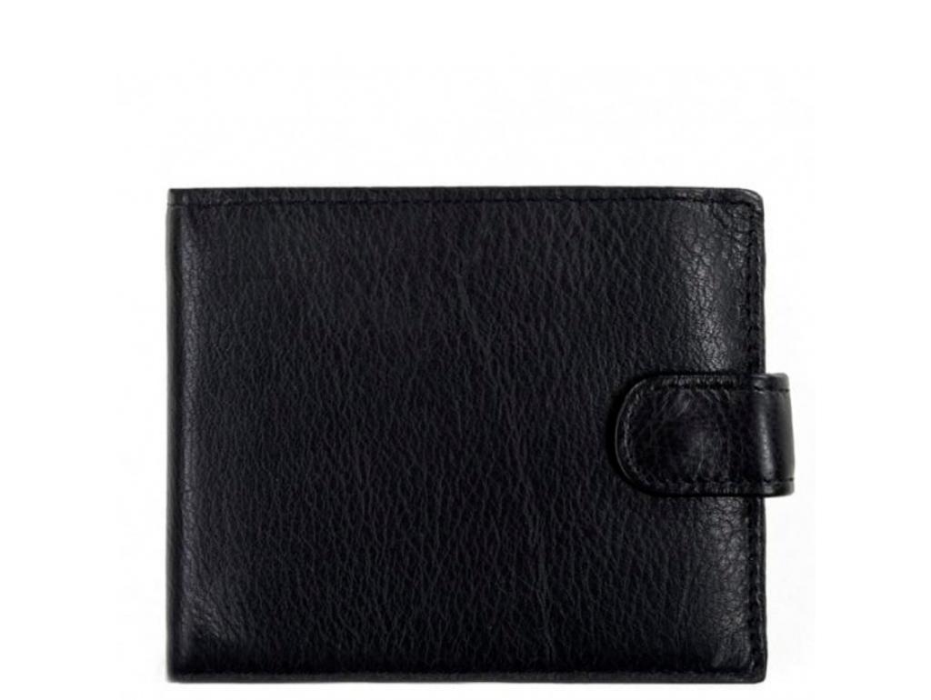 Портмоне черный Tiding Bag A7-258A - Royalbag Фото 1
