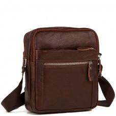 Мужская сумка на плечо натуральная кожа Tiding Bag M38-3922C - Royalbag Фото 2