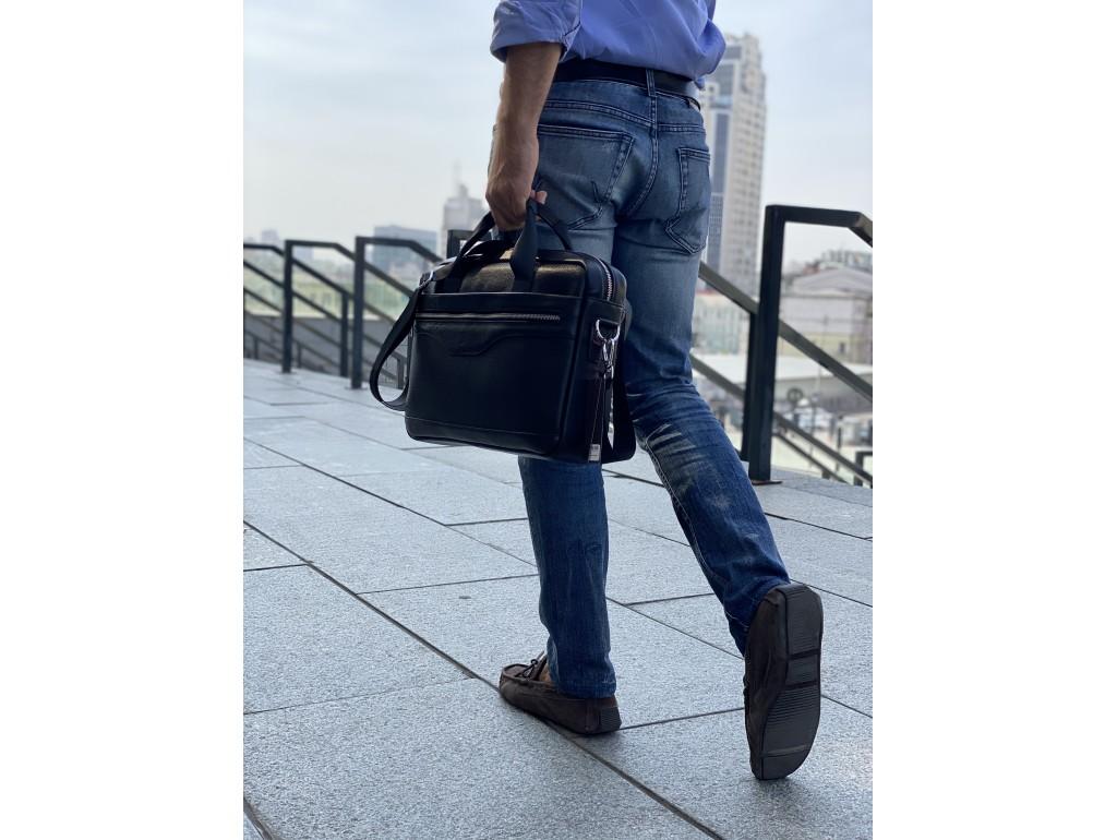 Мужская кожаная деловая сумка для ноутбука Tiding Bag A25-1128-1A - Royalbag