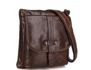 Оригинальная мужская сумка через плечо натуральная кожа Jasper & Maine 7045Q - Royalbag