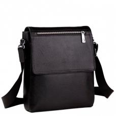 Мужская сумка через плечо зернистая кожа Tiding Bag M2994A - Royalbag