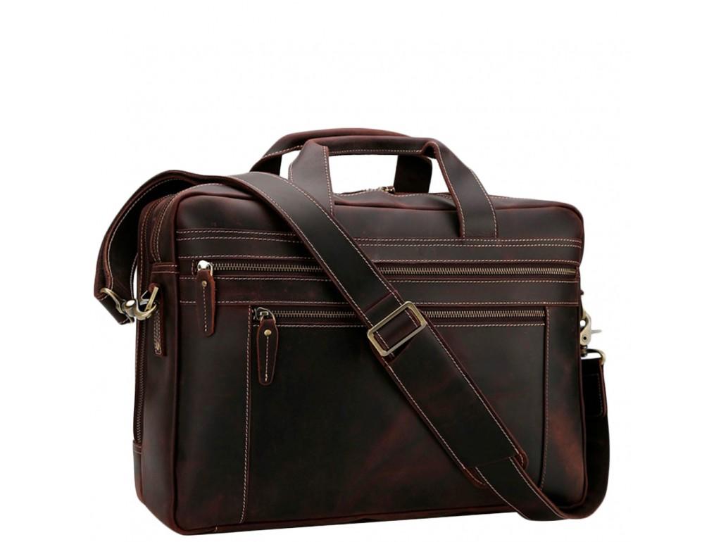 Вместительная мужская кожаная сумка с отделом для ноутбука 17 Tiding Bag 7319R - Royalbag Фото 1
