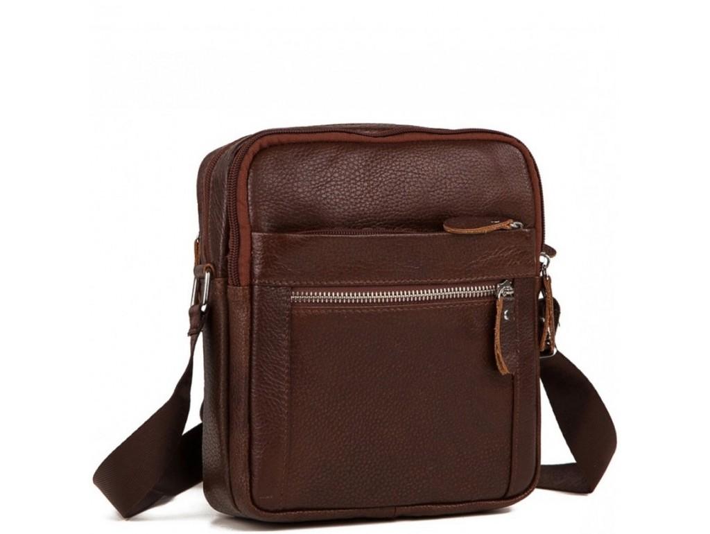 Мужская сумка на плечо натуральная кожа Tiding Bag M38-3922C - Royalbag Фото 1