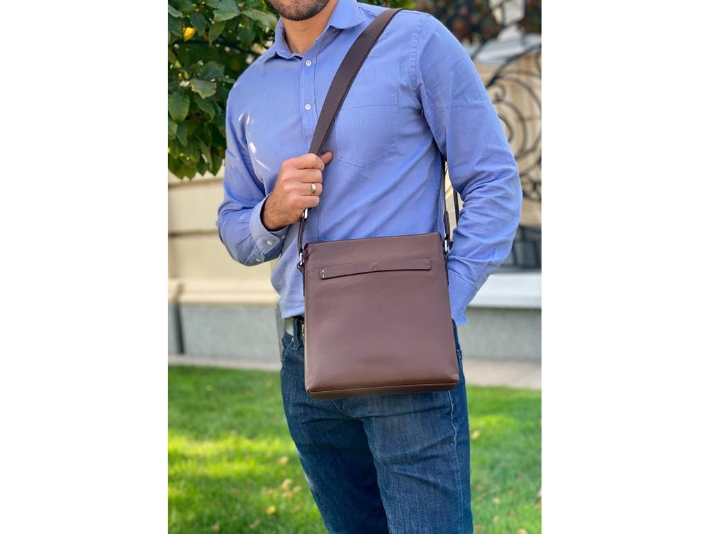 Мессенджер через плечо мужской кожаный Tiding Bag NM17-1018-2C - Royalbag