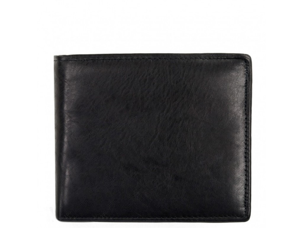 Портмоне черное Tiding Bag A7-259-1A - Royalbag Фото 1