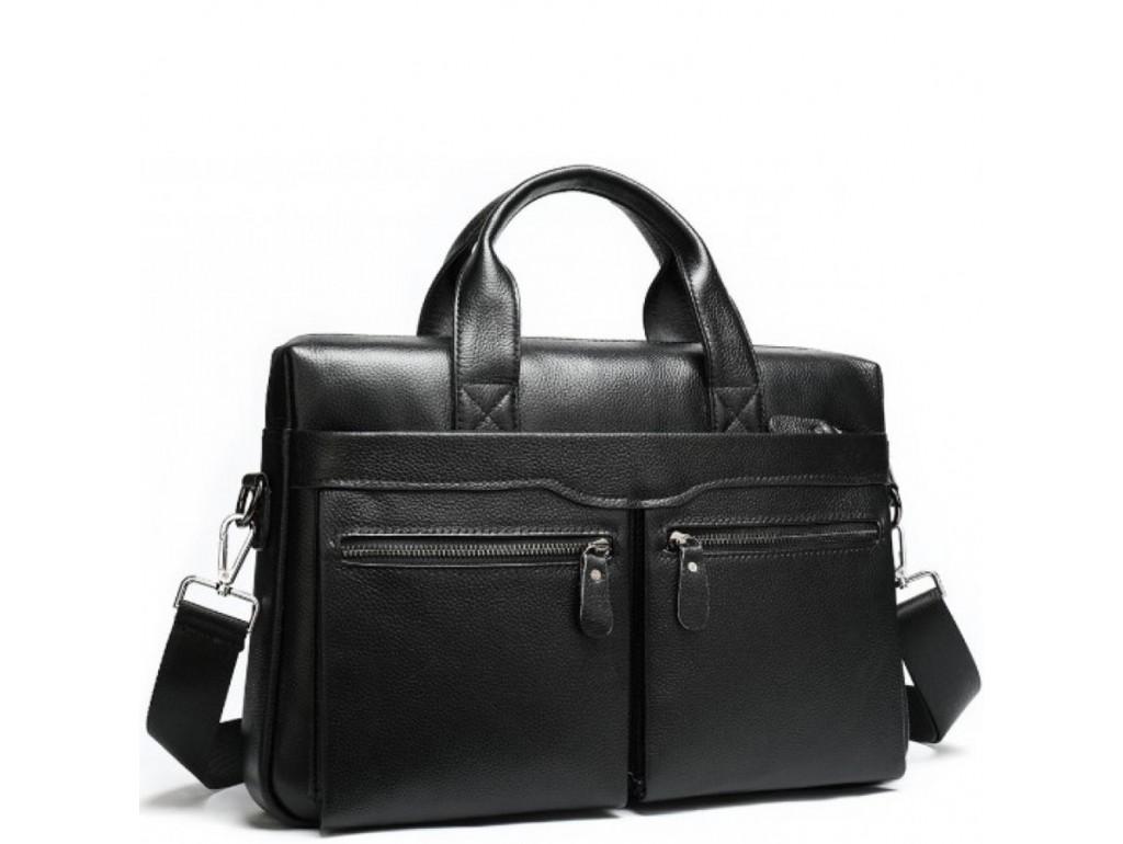 Офисная мужская кожаная сумка для ноутбука и документов Bexhill A25-7122A - Royalbag Фото 1