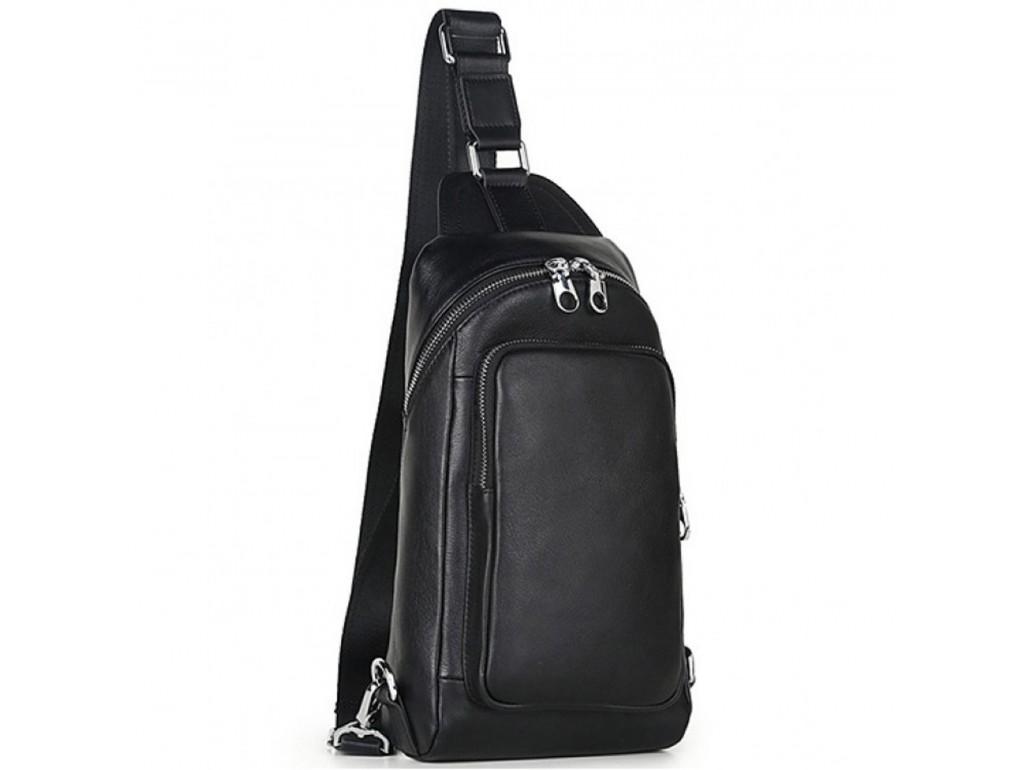 Кожаный рюкзак-слинг на одну шлейку Tiding Bag B3-2015-10A - Royalbag Фото 1
