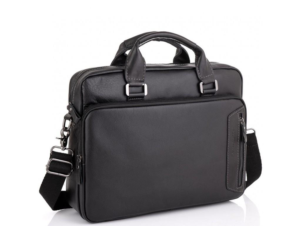 Мужская кожаная сумка для ноутбука Allan Marco RR-4011A - Royalbag Фото 1