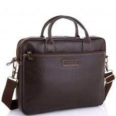 Мужская коричневая сумка для ноутбука Allan Marco RR-4024B - Royalbag