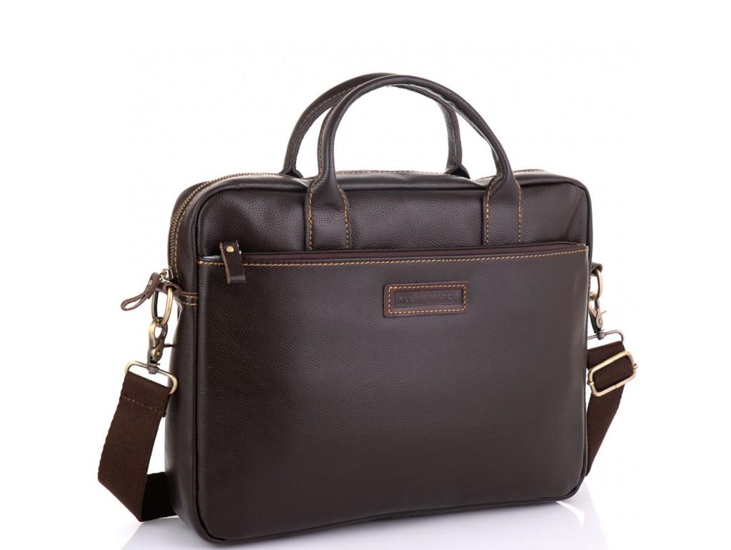Мужская коричневая сумка для ноутбука Allan Marco RR-4024B - Royalbag Фото 1