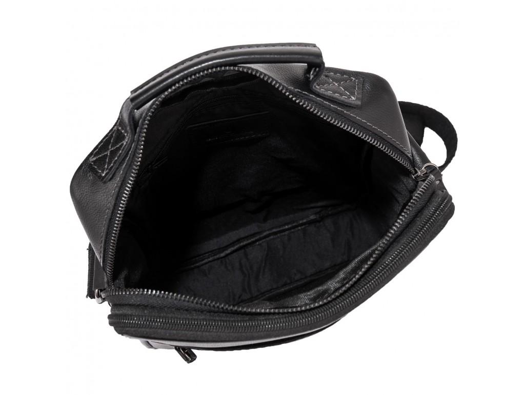 Мужская черная сумка через плечо Allan Marco RR-4083A - Royalbag