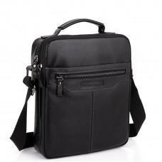 Мужская черная сумка через плечо Allan Marco RR-4083A - Royalbag Фото 2