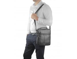 Чоловіча чорна сумка через плече Allan Marco RR-4083A - Royalbag