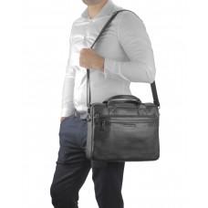 Сумка для ноутбука кожаная черная Allan Marco RR-4100A - Royalbag