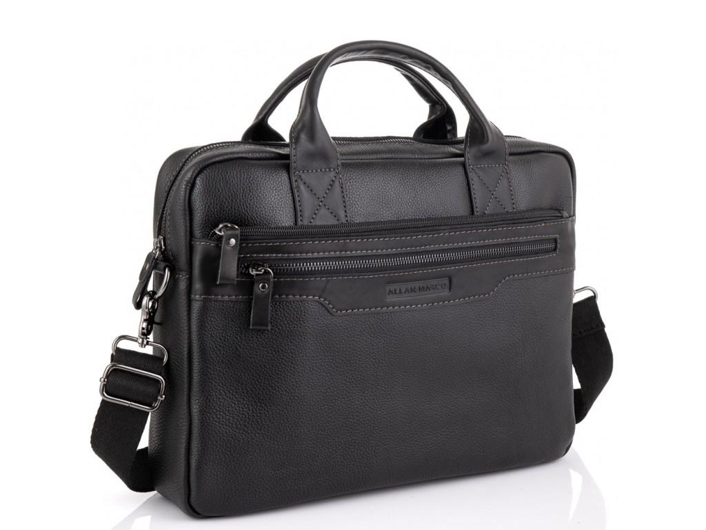 Сумка для ноутбука кожаная черная Allan Marco RR-4100A - Royalbag Фото 1