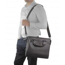 Шкіряна коричнева сумка для ноутбука Allan Marco RR-4102-1B - Royalbag