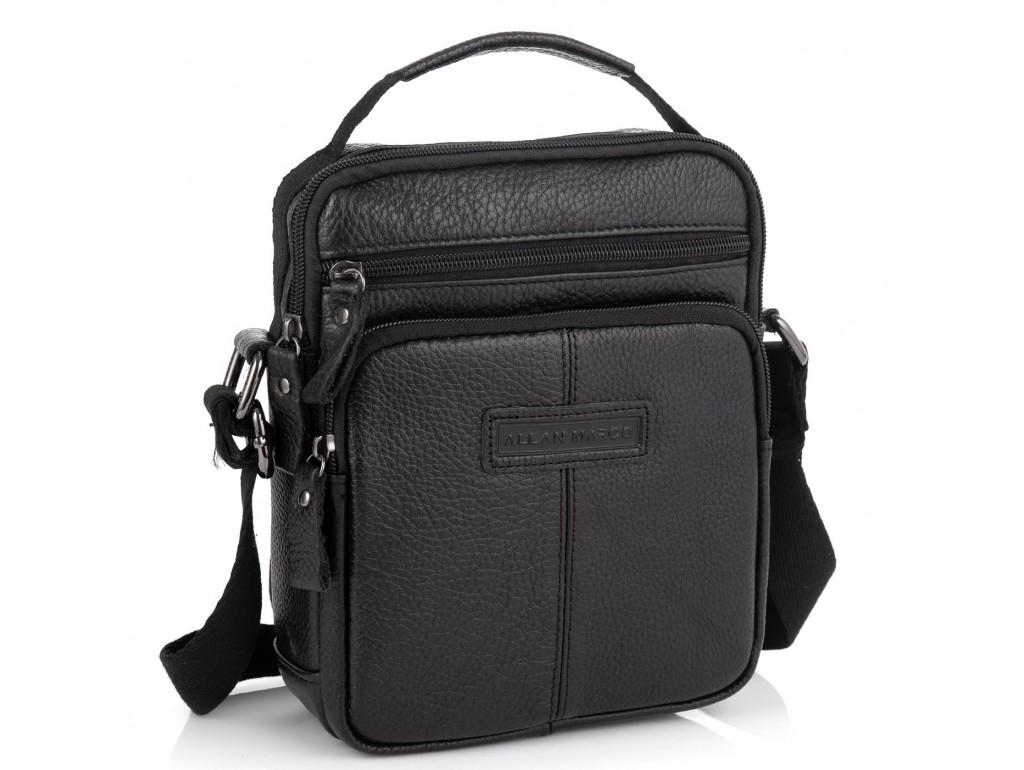 Кожаная мужская сумка через плечо Allan Marco RR-9053A - Royalbag Фото 1