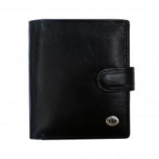 Мужское классическое портмоне на кнопке LEATHER ACCESSORIES BST-STB142BA - Royalbag