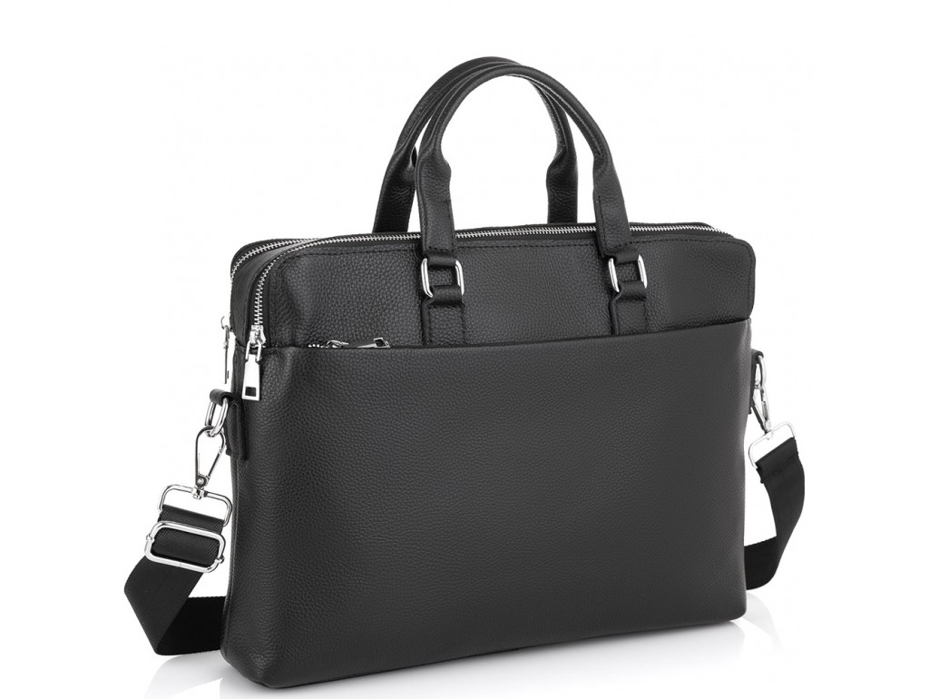 Кожаная сумка для ноутбука Tiding Bag NM23-2308A - Royalbag Фото 1