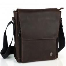 Мужская сумка через плечо из матовой винтажной кожи Royal Bag RB-V-JD4-7055C - Royalbag